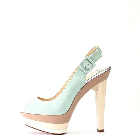 Christian Louboutin Mint Three Colors Sandals 37.5
