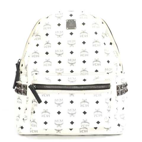 MCM White Large Stark Backpack