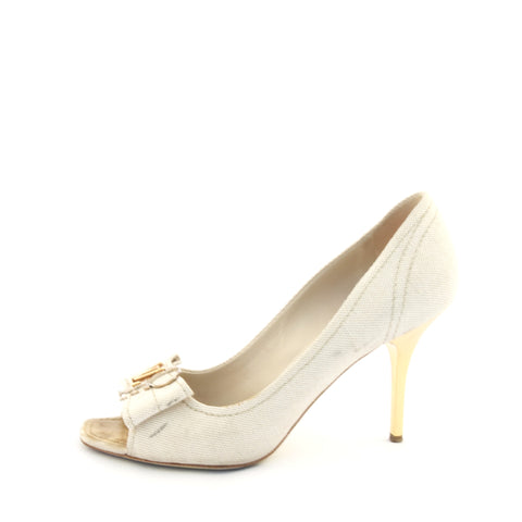 Louis Vuitton Beige Peeptoe Pumps 39