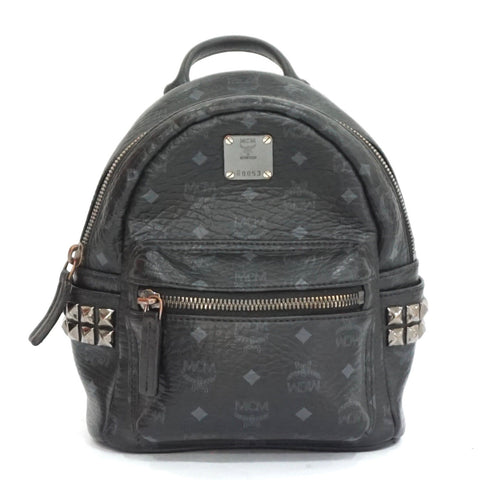 MCM Black Mini Stark-X Studded Backpack