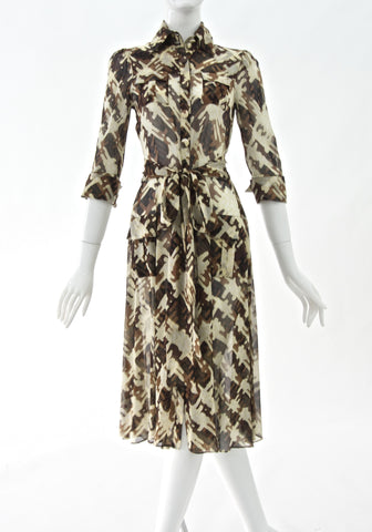 DVF Printed silk dress (Size 4/S)