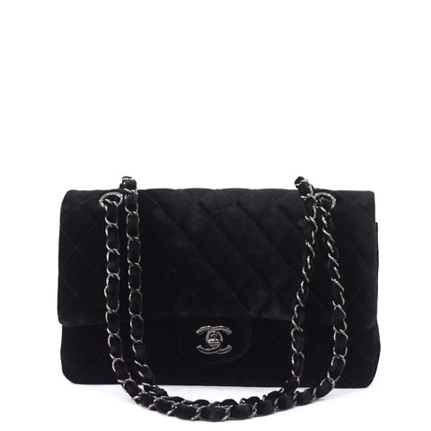 Chanel Black Velvet Double Flapbag