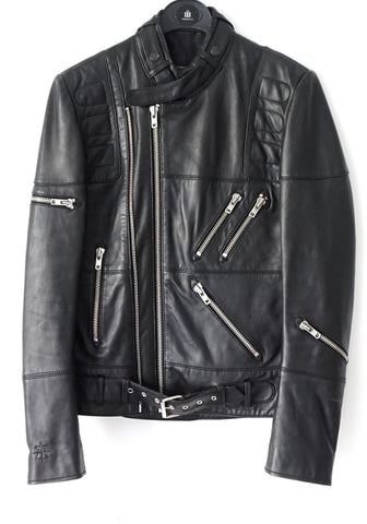 Surface To Air Black Leather Jacket S