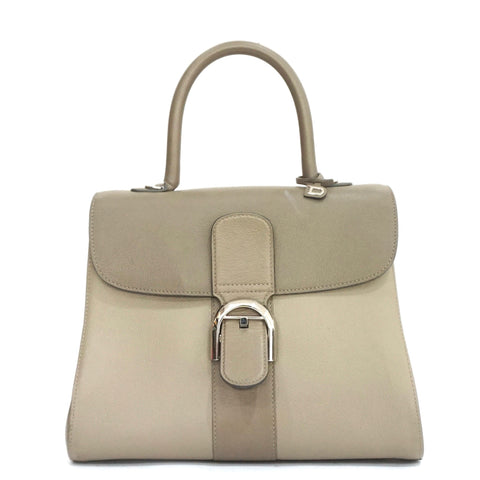 Delvaux Taupe Three Color Brillant MM Bag