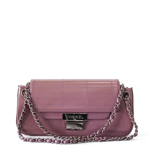 Chanel Purple Accordion Flapbag