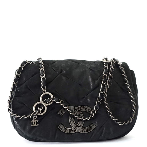 Chanel Black Bubble Quilt Flapbag
