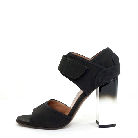 Marni Black Techno Ombre Block Heel Sandals 38