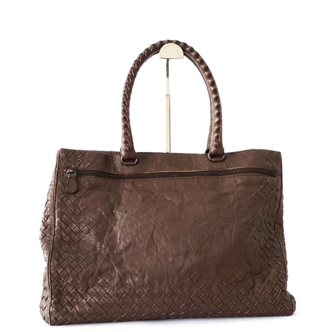 Bottega Veneta Dark Brown Tote Bag