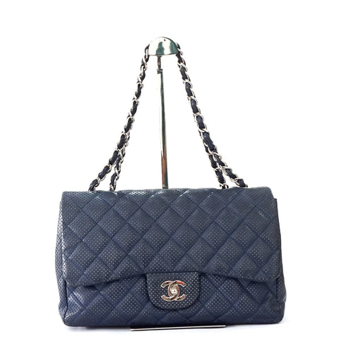 Chanel Maxi Blue Flap Bag
