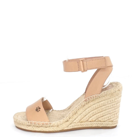 Tory Burch Bima 2 Natural Vachetta Espradilles Wedges 6.5