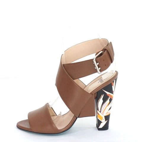 Fendi Brown Graphic-heel Ankle Sandals 36.5