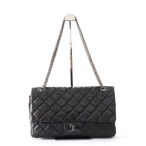 Chanel 277 Dark Grey Metallic Reissue Bag