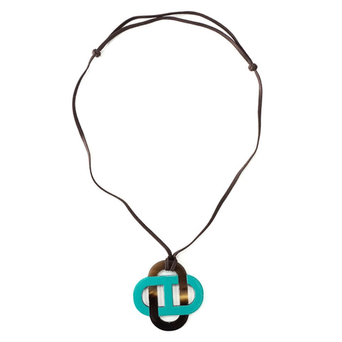 Hermes Horn and Lacquer Line Necklace