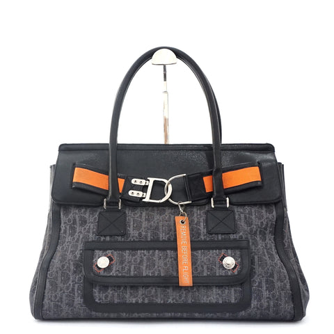 Christian Dior Denim Black Tote