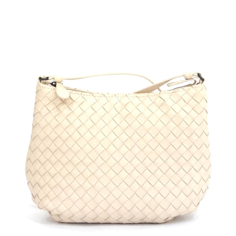 Bottega Veneta Beige Intrecciato Nappa Small Crossbody Bag