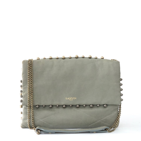 Lanvin Blue Gray Chain Handbag