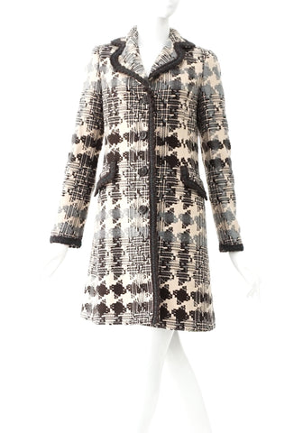 Sisley Blue Tweed Long Coat 40