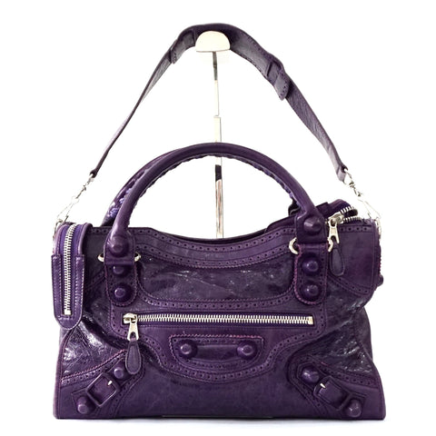 Balenciaga Dark Purple City Bag