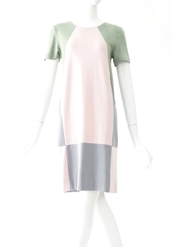 Marc by Marc Jacobs Colour Block Green Pink Grey Dress XS