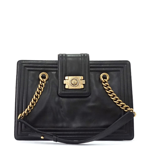 Chanel Black Boy Tote Bag
