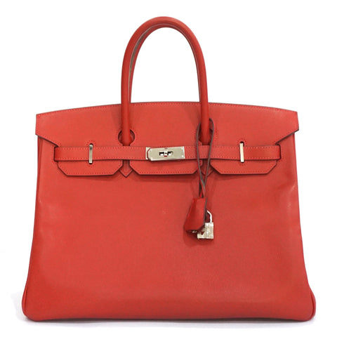 Hermes Birkin 35 Rouge Garrance Epsom PHW PRICE BY REQUEST