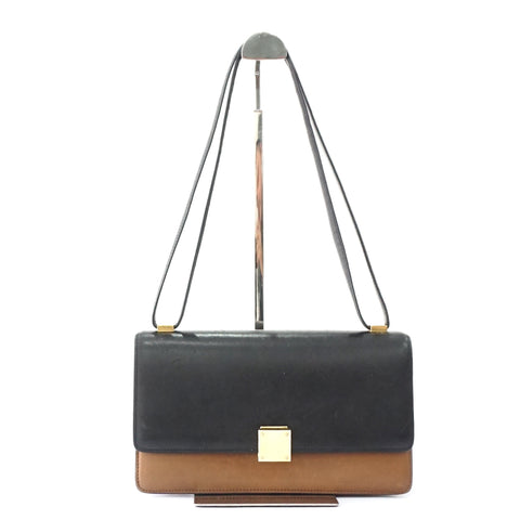 Celine Black Camel Medium Case Shoulder Bag
