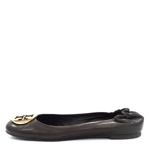 Tory Burch Dark Brown Flats 8M