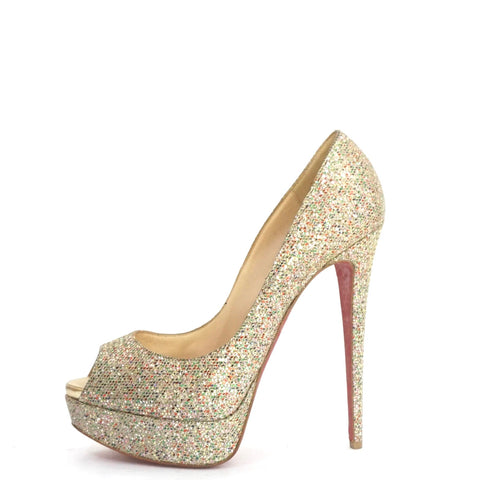 Christian Louboutin Colorful Glittered Pumps 39