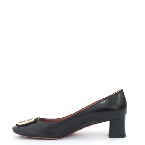 Bally Black Kid Plain Pumps 36.5