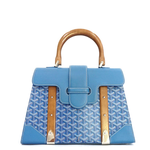 Goyard Blue Saigon MM Bag