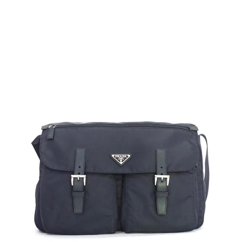 Prada Postman Navy Bag