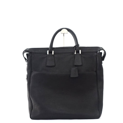 Bally Black Leather Mens Tote Bag