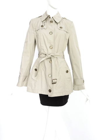 Burberry Mid-Length Trench Coat UK 8