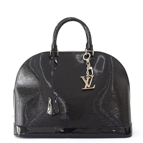 Louis Vuitton Black Epi Alma Vernis