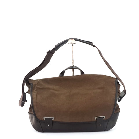 Dunhill Brown Canvas Postman Bag