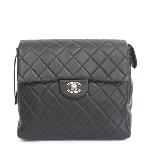 Chanel Black Quilted Backpack SHW