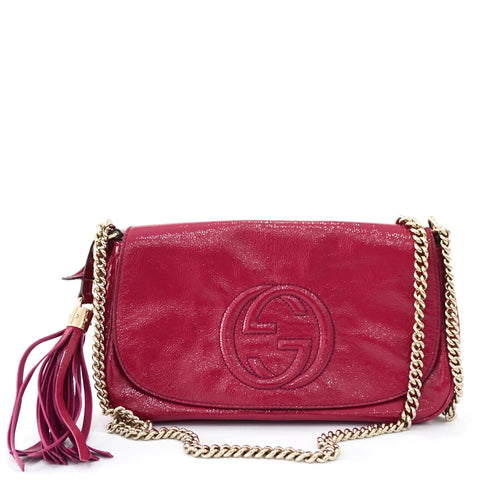 Gucci Fuschia Patent Leather