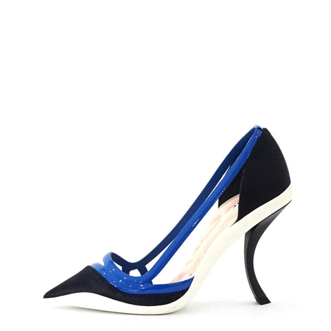 Christian Dior Blue Pointed Pump 36.5