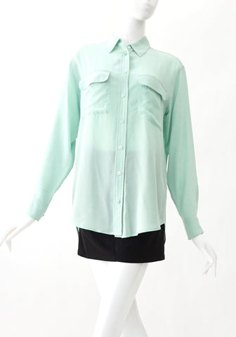 Equipment Mint Long Sleeves Shirt