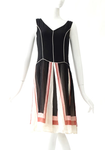 BCBG Maxazria Black - Multicolor Sleeveless Dress 4