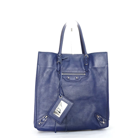 Balenciaga Papier A5 Zip-Around Leather Tote Bag