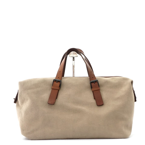 Bottega Veneta Canvas Beige Travel Bag