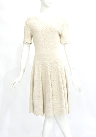 Alexander McQueen Beige Knit Dress XL