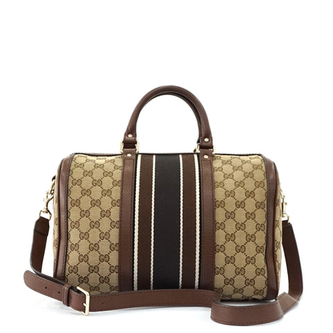 Gucci Web Boston Bag 30