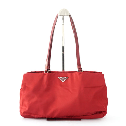 Prada Red Canvas Handbag