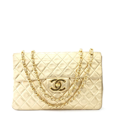 Chanel Maxi Vintage Flapbag Gold Lambskin GHW