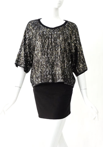 BCBG Max Azria Sequined Top S