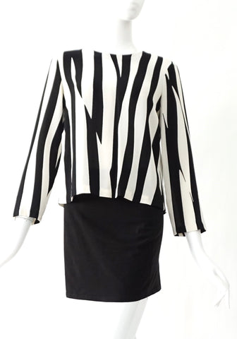 ALC black and White Stripe Top S/P
