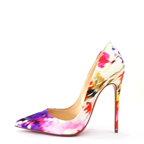 Christian Louboutin White Multicolor Stiletto 37
