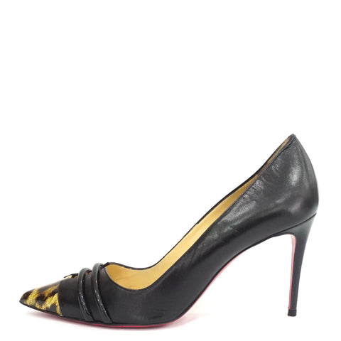 Christian Louboutin Black Double Front Pumps 37